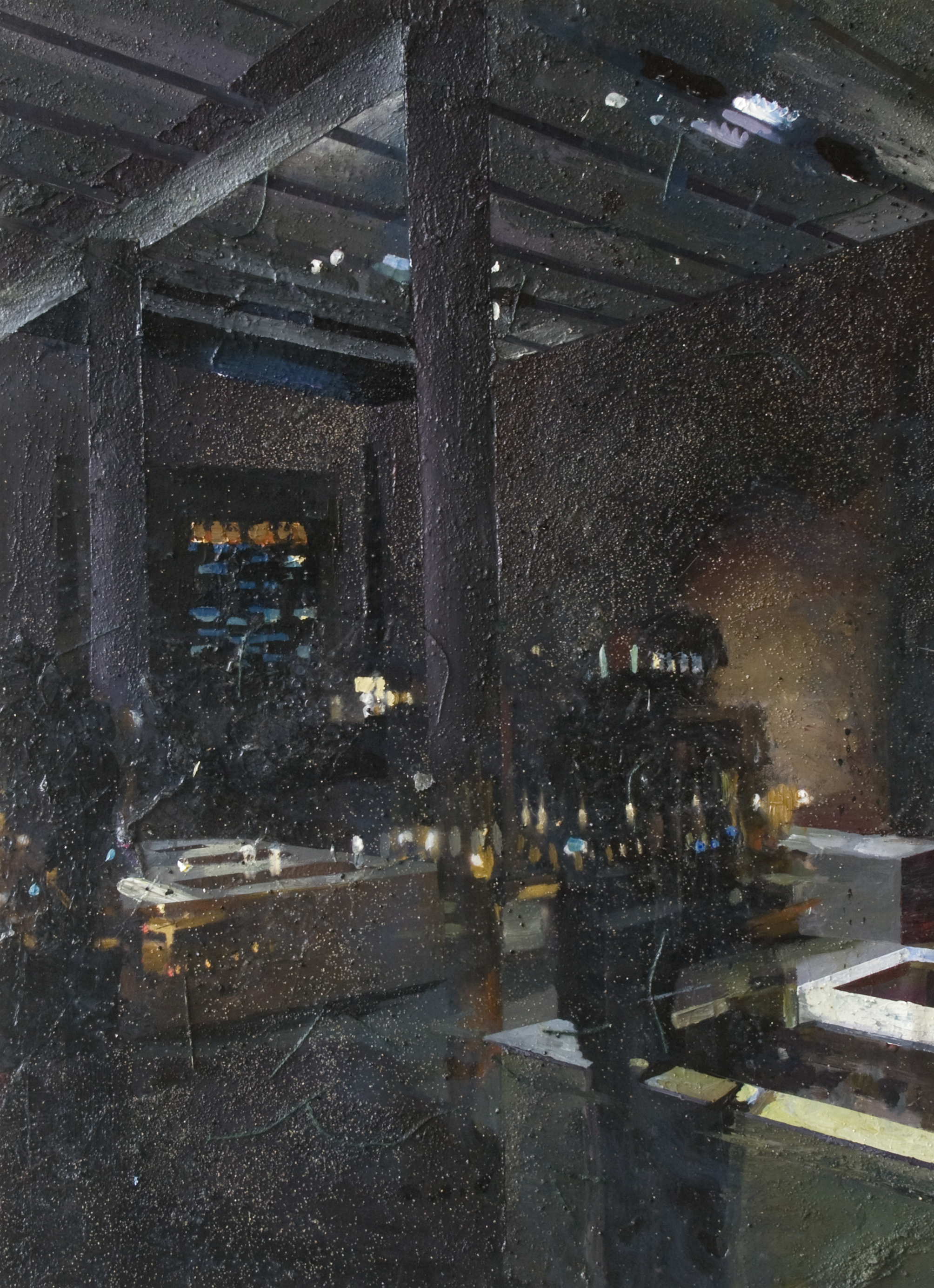 n.t 120x88 cm acrylics, enamel, sand on canvas on woodpanel