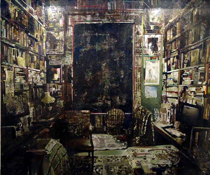 Elsworth M Toohey's Room 200x295 cm acrylics, enamel, sand on canvas on woodpanel
