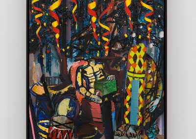 Beckmann Picasso - 1 - acrylics sand plaster dirt on canvas on wood panel