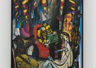 Beckmann Picasso - 10 - acrylics sand plaster dirt on canvas on wood panel