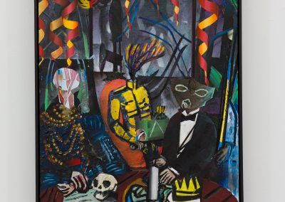 Beckmann Picasso - 11 - acrylics sand plaster dirt on canvas on wood panel