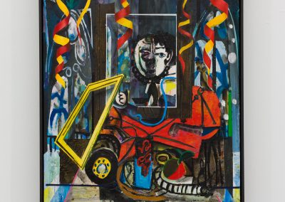Beckmann Picasso - 12 - acrylics sand plaster dirt on canvas on wood panel