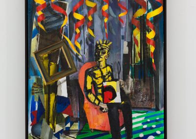Beckmann Picasso - 13 - acrylics sand plaster dirt on canvas on wood panel