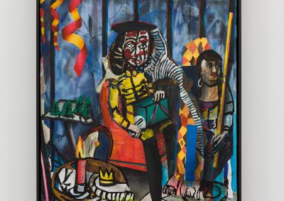 Beckmann Picasso - 3 - acrylics sand plaster dirt on canvas on wood panel