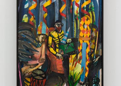 Beckmann Picasso - 7 - acrylics sand plaster dirt on canvas on wood panel