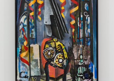 Beckmann Picasso - 9 - acrylics sand plaster dirt on canvas on wood panel