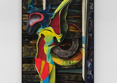 Symbiosis VII, 2020, Acrylic, sand and plaster on canvas mounted to wood panel, 202,9 x 103 x 6,5 cm | 79,88 x 40,5 x 2,5 in